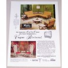 1962 Vogue Riviera Casual Furniture Color Print Ad
