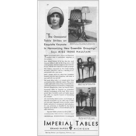 1931 Imperial Furniture Company Imperial Tables Vintage Print Ad