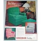 1948 Kroehler Lounge Chair Color Print Ad