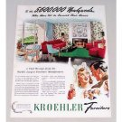 1944 Kroehler Furniture Color Print Ad - 5,600,000 Newlyweds
