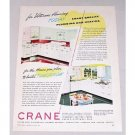 1946 Crane Plumbing Heating Color Print Ad