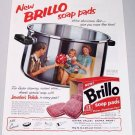 1958 Brillo Soap Pads Color Print Ad
