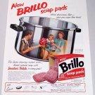 1958 Brillo Soap Pads Color Print Ad