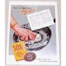 1938 SOS Magic Scouring Pads Color Print Ad