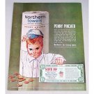1963 Northern Towels Color Print Ad - Penny Pincher