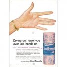 1959 ScotTowels Pink Towels Color Print Ad - Drying-est Towel