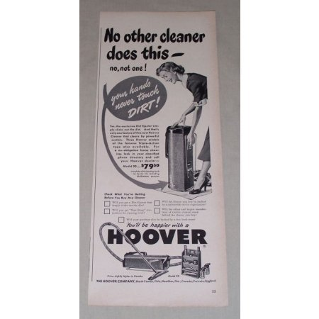 1949 Hoover Model 50 Vacuum Cleaner Vintage Print Ad