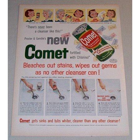 1957 Procter Gamble Comet Cleanser Color Print Ad