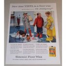 1957 Simoniz Vinil Floor Wax Vintage Color Print Ad - It's Childproof
