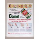 1957 Comet Cleanser Color Print Ad - Never Been A Cleanser Like This