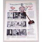 1953 Regina Twin Brush Polisher Scrubber Vintage Print Ad