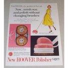 1958 Hoover Polisher Color Print Ad - Scrub, Wax and Polish
