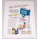 1949 Bon Ami Glass Gloss Glass Silver Cleaner Color Print Ad