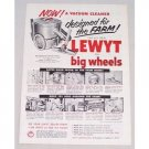1954 Lewyt 77 Vacuum Cleaner Vintage Print Ad - Designed For The Farm