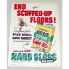 1953 Johnson's Hard Gloss Glo-Coat Floor Wax Bee Art Color Print Ad