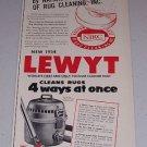 1954 Lewyt Vacuum Cleaner Vintage Print Ad
