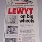 1955 Lewyt Model 77 Vacuum Cleaner Vintage Print Ad