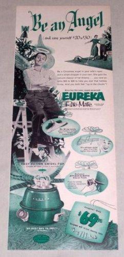 1953 Eureka Roto Matic Swivel Top Vacuum Cleaner Vintage Print Ad