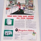 1952 Youngstown Kitchens Vintage Color Print Ad