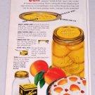 1949 Kerr Mason Jar Caps Rings Lids Color Canning Color Print Ad