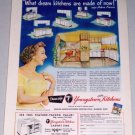 1954 Youngstown Steel Kitchens Color Print Ad Celebrity Arlene Francis
