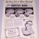 1955 Hamilton Beach Food Mixer Appliance Vintage Print Ad