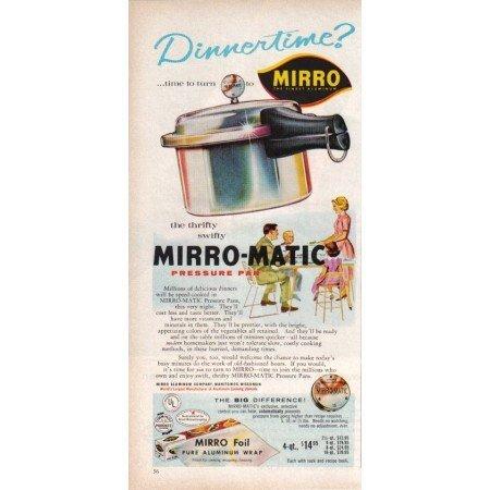 1960 Mirro Mirro-Matic Pressure Pan Color Print Ad