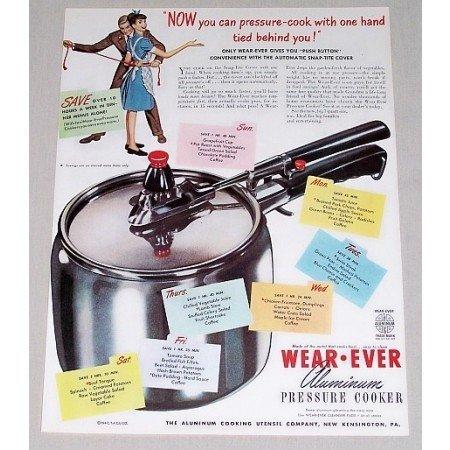 1947 Wear Ever Aluminum Pressure Cooker Color Print Ad