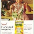 1961 Waxtex Sandwich Bags Color Print Ad