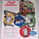 1953 Presto Iron Deep Fryer Coffee Pot Cooker Color Print Ad
