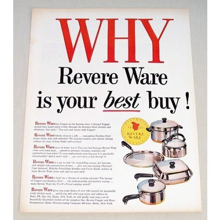 1956 Revere Ware Cookware Color Print Ad - Best Buy