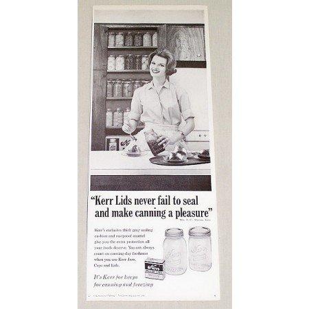 1962 Kerr Mason Lids Vintage Print Ad - Never Fail To Seal