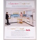 1962 I-XL Kitchen Cabinets Color Print Ad - Sculptured Satingold