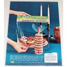1961 Dow Saran Wrap Color Print Ad - Cookie Candle Idea