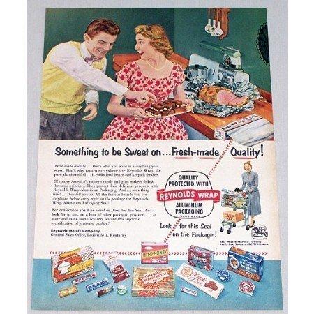 1954 Reynolds Wrap Aluminum Foil Color Print Ad
