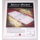 1949 American Standard Custom Line Sink Color Print Ad
