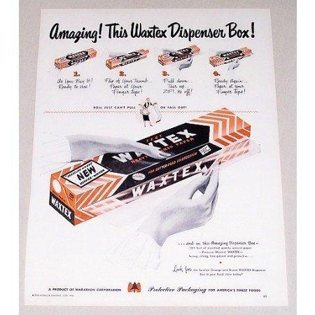 1950 Waxtex Heavy Waxed Paper Color Print Ad