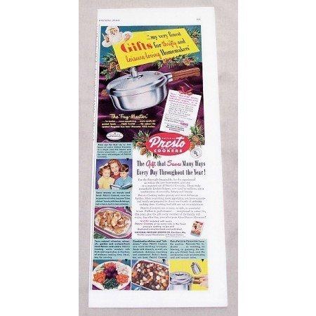 1949 Presto Fry Master Cooker Color Print Ad