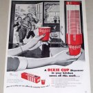 1954 Dixie Cups Dispenser 50's Kitchen Art Vintage Print Ad