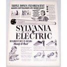 1948 Sylvania Electric Fluorescent Bulbs Handy 5 Pack Vintage Print Ad