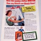 1952 Tide Laundry Detergent Vintage Color Print Ad