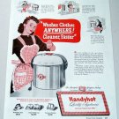 1948 Handyhot Portable Electric Washer Color Print Art Appliance Ad