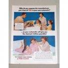 1957 Tide Detergent Color Print Ad