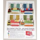 1961 Rit Tints and Dyes Color Print Ad - Create A New Room
