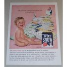 1957 Ivory Snow Detergent Color Ad - My Mommy Washes