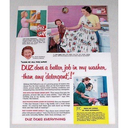 1953 Duz Detergent Vintage Print Color Ad
