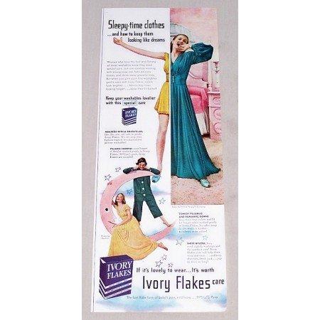 1949 Ivory Flakes Detergent Vintage Print Ad - Sleepy Time Clothes