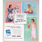 1953 Ivory Snow Detergent Color Print Ad - Safest Soap