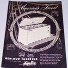 1953 ROP Ben Hur Freezer Vintage Appliance Vintage Print Ad