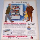 1949 International Harvester IH Refrigerator Color Appliance Print Ad